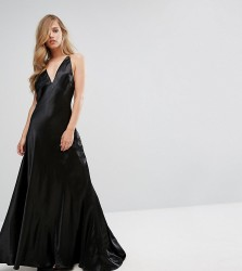 Fame and Partners Premium Metallic Gown with Fishtail - Black