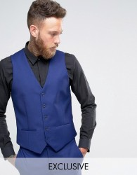 Farah Bright Millbank Twill Waistcoat - Blue