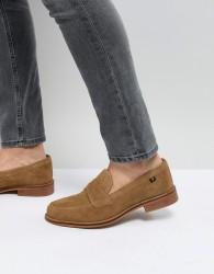 Farah Chalice Suede Loafers - Beige