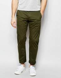 Farah Chino in Slim Fit Stretch Cotton - Green