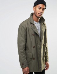 Farah Double Breasted Coat - Green