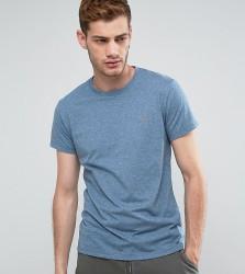 Farah Gloor Marl Slim Fit T-Shirt In Blue - Blue