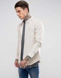 Farah Long Sleeve Slim Shirt - White