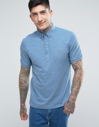 Farah Merriweather Short Sleeve Marl Polo Shirt in Blue - Blue