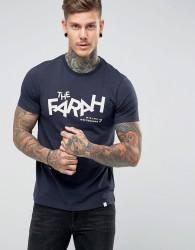 Farah Nick Slim Fit Graphic Print T-Shirt in Navy - Navy