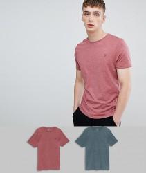 Farah Oakmont 2 Pack Lounge T-Shirts - Red