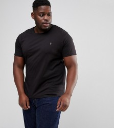 Farah PLUS Farris Slim Fit T-Shirt in Black - Black