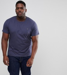 Farah PLUS Farris Slim Fit T-Shirt in Navy - Navy