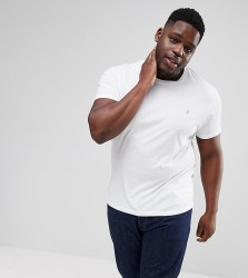 Farah PLUS Farris Slim Fit T-Shirt in White - White