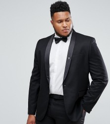 Farah PLUS Skinny Tuxedo Suit Jacket - Black