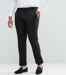 Farah PLUS Skinny Tuxedo Suit Trousers - Black