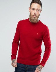Farah Rosecroft Lambswool Jumper - Red
