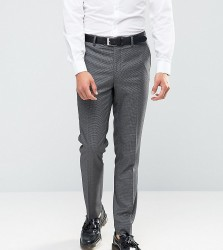 Farah Skinny Dogtooth Suit Trousers - Grey