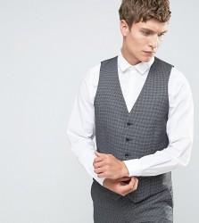 Farah Skinny Dogtooth Waistcoat - Grey