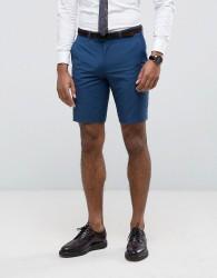 Farah Skinny Shorts In Blue - Blue