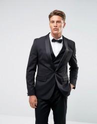 Farah Skinny Tuxedo Suit Jacket - Black
