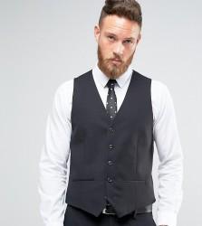 Farah Skinny Waistcoat In Black - Black