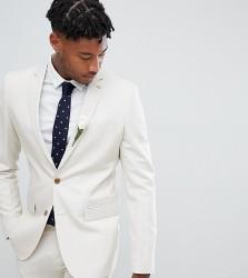 Farah skinny wedding suit jacket in linen - Stone