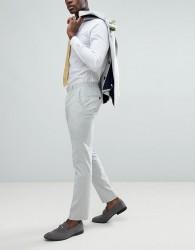 Farah Skinny Wedding Suit Trousers In Cross Hatch - Grey