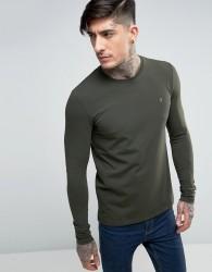 Farah Southall Super Slim Muscle Fit Long Sleeve T-shirt Green - Green