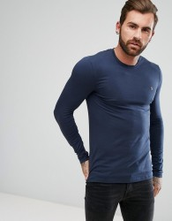 Farah Southall Super Slim Muscle Fit Long Sleeve T-shirt Navy - Navy