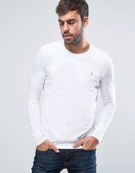 Farah Southall Super Slim Muscle Fit Long Sleeve T-Shirt White - White