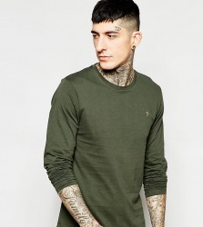 Farah T-Shirt with F Logo Slim Fit Exclusive - Green