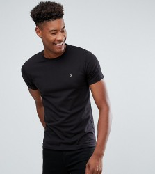 Farah TALL Farris Slim Fit T-Shirt in Black - Black
