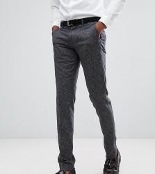 Farah TALL Skinny Wedding Suit Trousers In Fleck - Grey