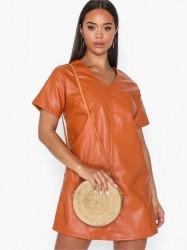 Farrow Jane Bamboo Leather Strap Bag Skuldertasker