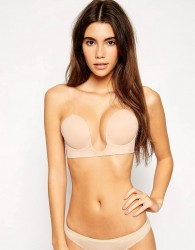 Fashion Forms U Plunge Backless And Strapless Stick On Bra - Beige