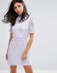 Fashion Union Dress In Lace - Purple