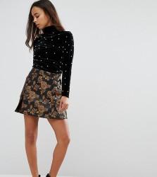 Fashion Union Petite Pelmet Skirt In Firefly Brocade - Multi