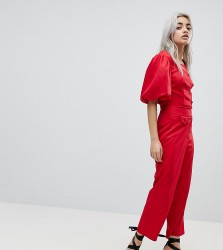 Fashion Union Petite Tailored Trousers Co-Ord - Red