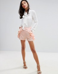 Fashion Union Shorts With Frill Detail - Pink