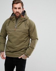 Fat Moose Pullover Sailor Anorak Coat with Quarter Zip - Green