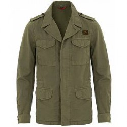 Fay Escape Cotton Field Jacket Military Green