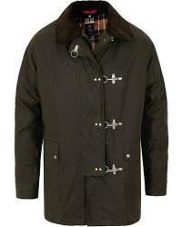 Fay Four Hook Luxury Oilskin Jacket Dark Green