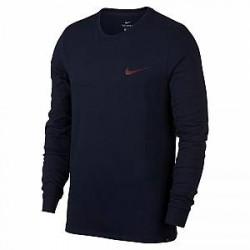 FC Barcelona-T-shirt med langeærmer til mænd - Blå