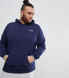 Fila Vintage Hoodie With Small Script In Navy - Navy