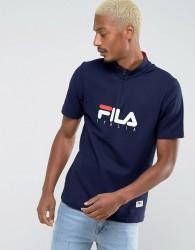 Fila Vintage Zip Polo Shirt - Navy
