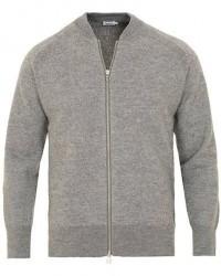 Filippa K Boiled Wool Zip Jacket Grey Melange