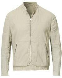 Filippa K Kiruna Unlined Garment Dyed Linen Jacket Grey Beige men 48 Grå