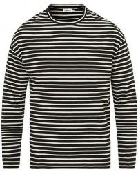 Filippa K Striped Long Sleeve Tee Black/Bone