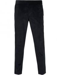 Filippa K Terry Cropt Draw String Corduroy Trousers Dark Navy