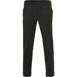 Filippa K Terry Gabardine Cropt Turn Up Pants Black