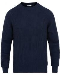 Filippa K Wave Stitch Sweater Navy