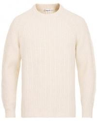 Filippa K Wool Cable Crew Neck Sweater Cream