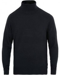 Filippa K Wool/Silk Rollneck Dark Navy