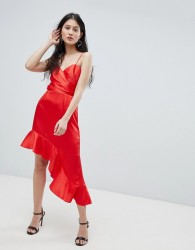 Finders asymmetric cami dress - Red